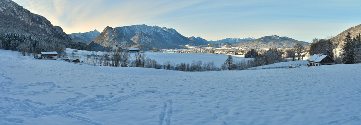Panorama, Winter, Schnee, Wanderung
