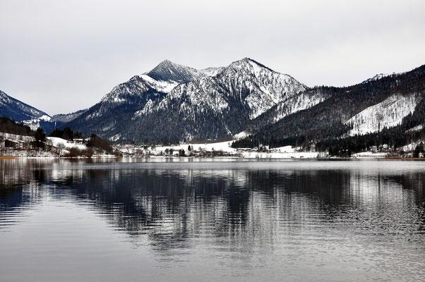 Bayern, Seen, Landschaft, Spiegelung, Wanderung, Schliersee