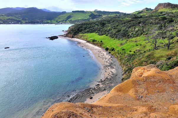 Neuseeland, Nordinsel, Küste, See, Meer, Sandstrand, Martins Bay