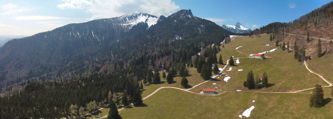 Panorama - Drohnenfoto - Landschaft - Bayern - Berge - Alpen - Ausflug - Wanderung - Chiemgau - Staffn-Alm