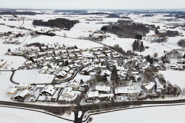 Drohnenfoto - Vogelperspektive - Drohne - Drohnenbild - Luftaufnahme - Winter - Schnee - Ebersberg
