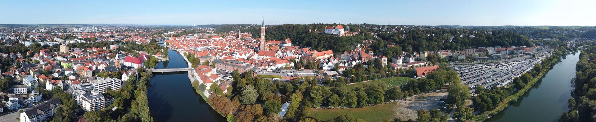 Panorama, Landshut, Innenstadt, Dom