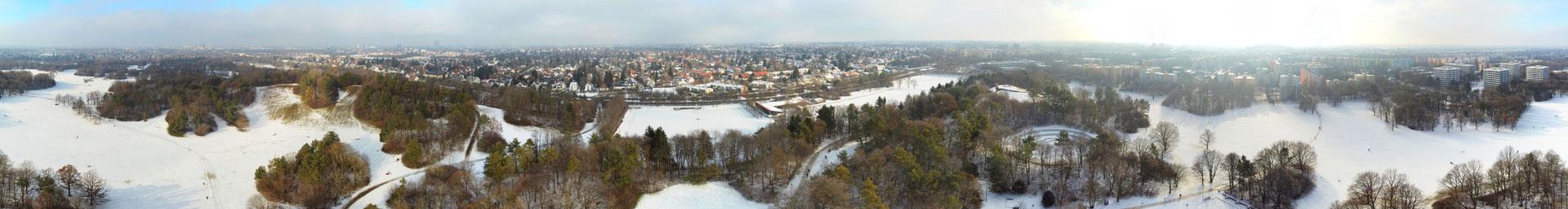 Panorama - München - Ostpark - Perlach - Winter - Drohne - Drohnenfoto