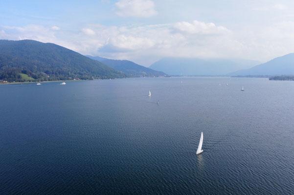Drohnenfoto - Vogelperspektive - Drohne - Drohnenbild - Luftaufnahme - See - Tegernsee - Bad Wiessee