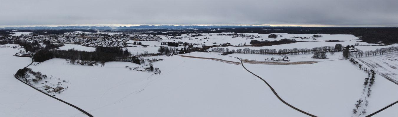 Panorama - Berge - Alpen - Wanderung - Winter -Ebersberg