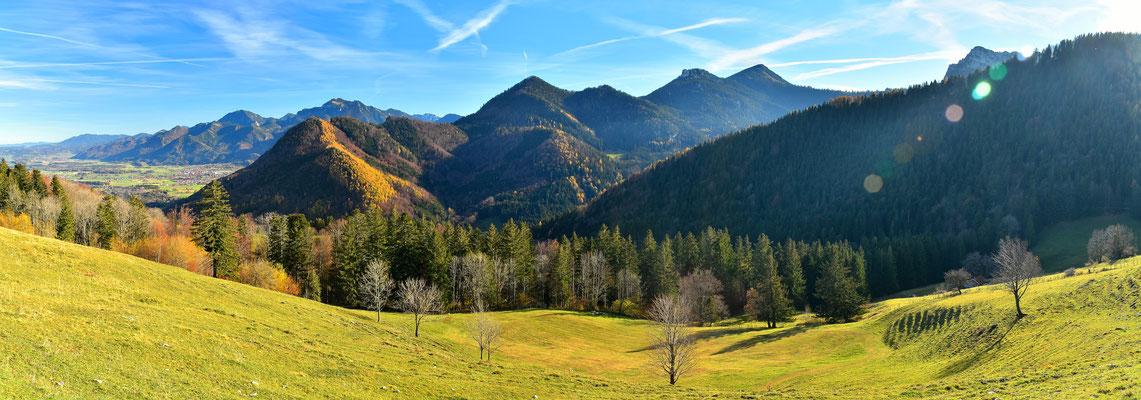 Panorama - Berge - Alpen - Wanderung - Chiemgau