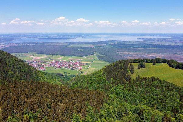 Drohnenfoto - Vogelperspektive - Drohne - Drohnenbild - Luftaufnahme - Chiemgau - Rottau