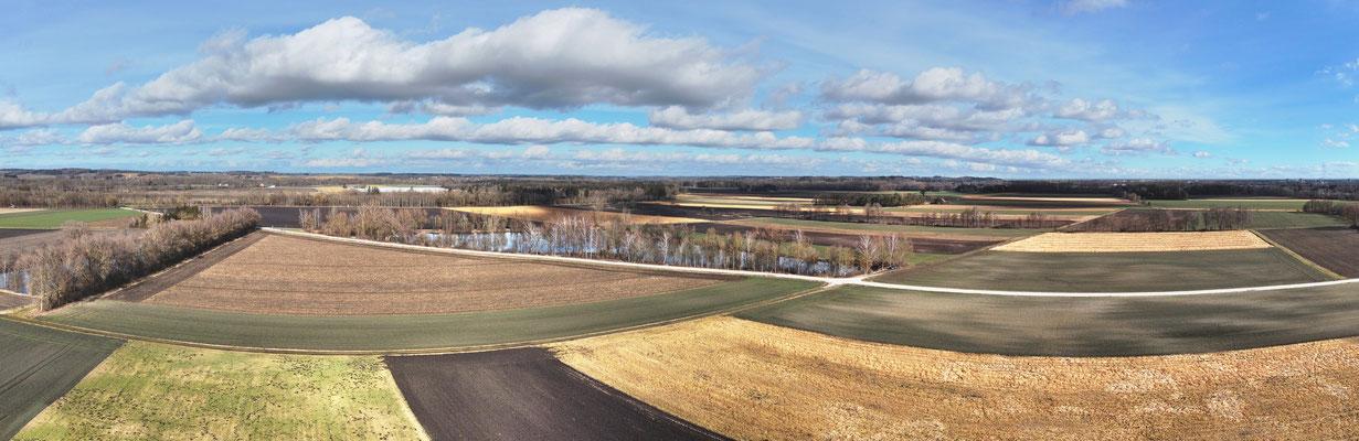 Panorama - Drohnenfoto - Luftaufnahme - Bei Herbertshausen