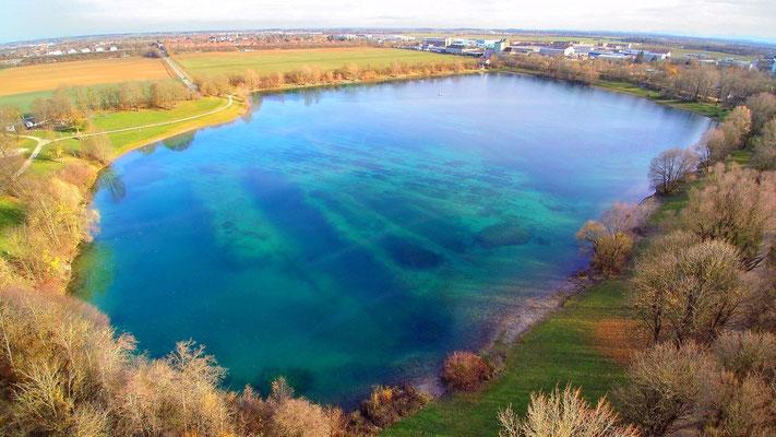 Drohnenfoto - Vogelperspektive - Drohne - Drohnenbild - Luftaufnahme - See - Heimstettener See - Heimstetten
