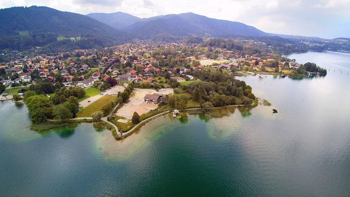 Drohnenfoto - Vogelperspektive - Drohne - Drohnenbild - Luftaufnahme - See - Bad Wiessee - Tegernsee