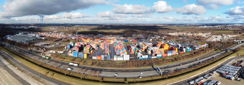 Panorama, München, Umschlagbahnhof, Autobahn, Wolken
