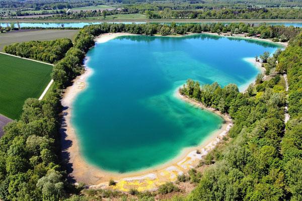 Drohnenfoto - Vogelperspektive - Drohne - Drohnenbild - Luftaufnahme - See - Regattaparksee - München