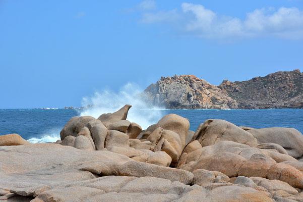 Sardinien, Sardegna, Landschaft, See, Küste, Felsenformationen, Capo Testa