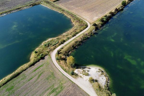 Drohnenfoto - Vogelperspektive - Drohne - Drohnenbild - Luftaufnahme - See - Haselfurth
