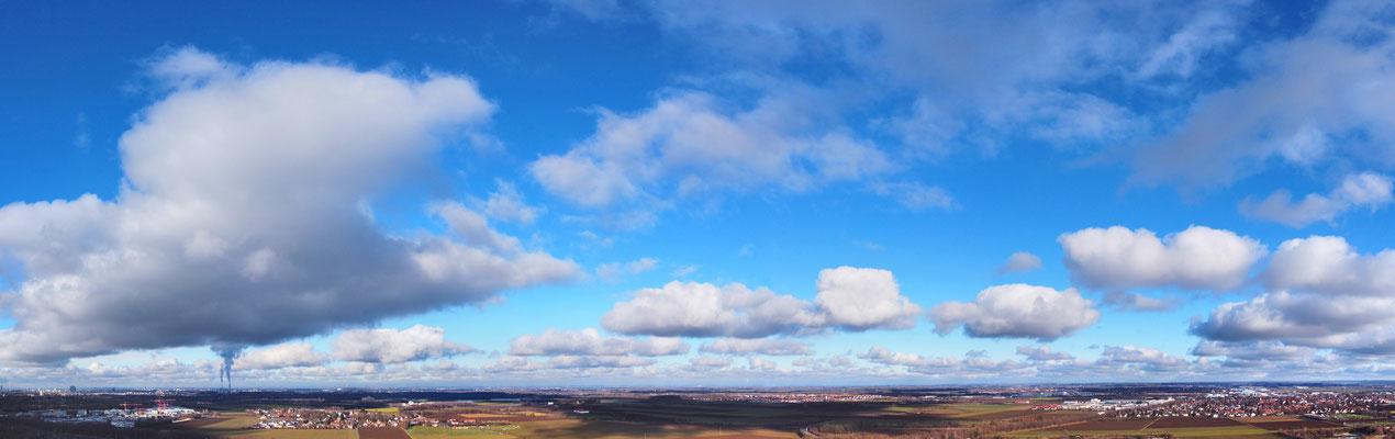 Panorama, Drohnenbild, München, Sonnenaufgang, Wolken