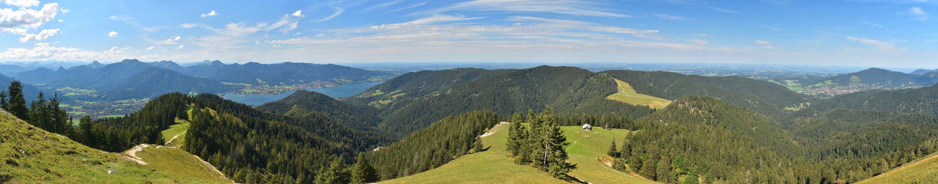 Panorama, Tegernsee, Luftaufnahme,  Landschaft, Drohnenfoto, Berge, Alpen, Sommer