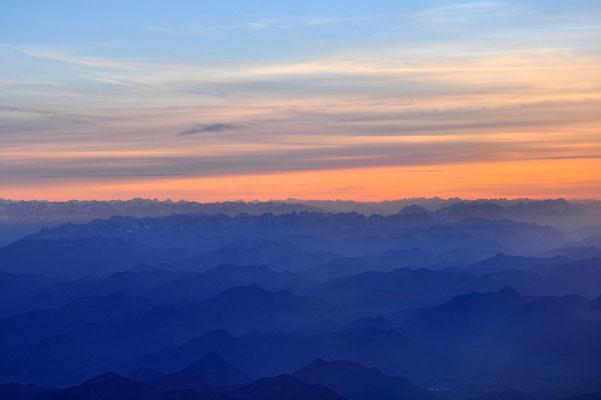 Griechenland, Rhodos, Berge, Wolken, Sonnenuntergang
