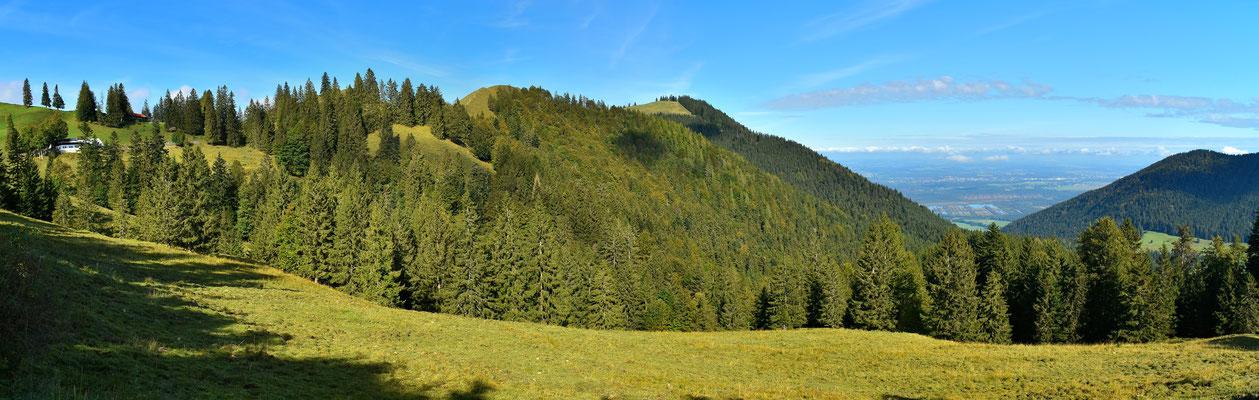 Panorama - Berge - Chiemgau - Wanderung zur Schuhbräualm