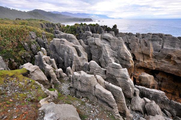 Neuseeland, Südinsel, Punakaiki, Pancake Rocks