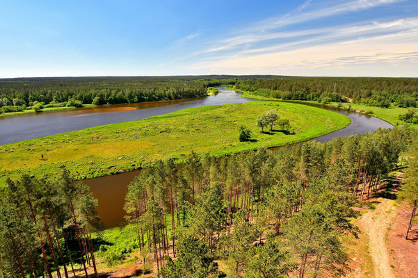 Litauen, Rundreise, Landschaft, Fluss, Dzukijos Nacionalinis Parkas(Nationalpark)