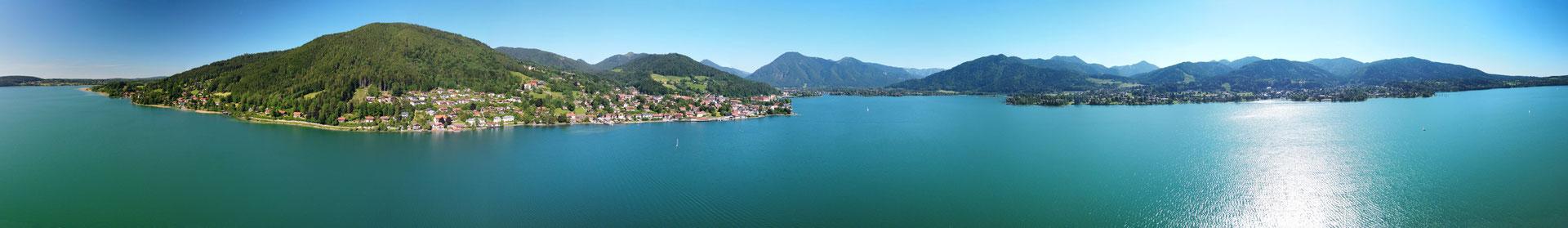 Panorama - Drohnenfoto - Landschaft - Bayern - Berge - Alpen - Sommer - Ausflug - Sonnenuntergang - Wanderung - Tegernsee