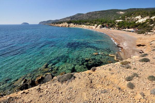 Griechenland, Rhodos, Meer, Küste, Insel, Sandstrand Kap Fourni