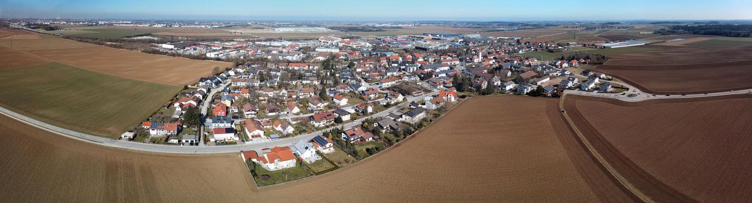 Panorama, Luftaufnahme, Parsdorf bei München