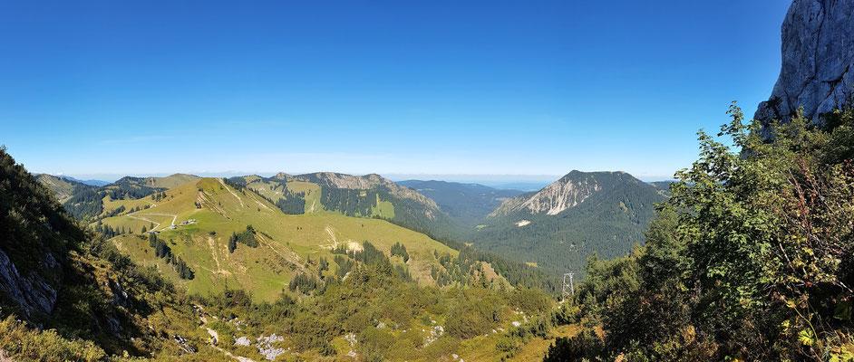Panorama - Drohnenfoto - Landschaft - Sommer - Berge - Alpen - Ausflug - Wanderung - Ausicht beim Tegernseer Hütte
