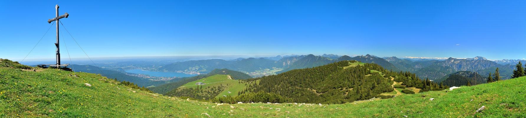 Panorama - Drohnenfoto - Landschaft - Bayern - Berge - Alpen - Sommer - Ausflug - Wanderung - Hirschberg