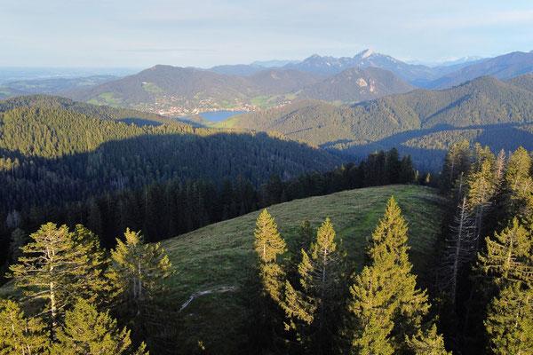 Vogelperspektive, Drohnenfoto, Drohnenbild, Luftaufnahme, Gindelalmschneid, Berge, Alpen, Tegernsee