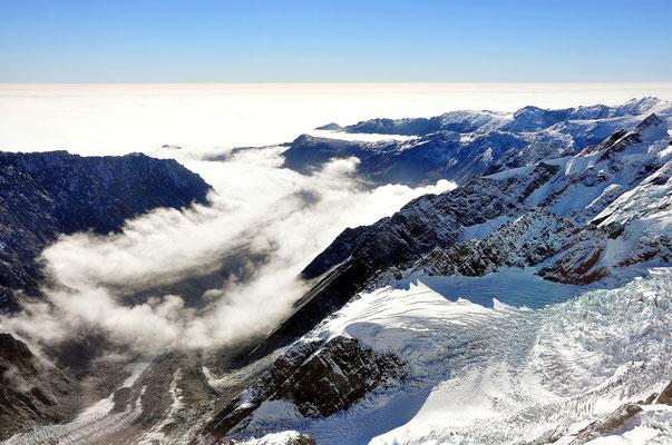 Neuseeland, Südinsel, Mont Cook Nationalpark, Tasman Glacier, Tasman Gletscher