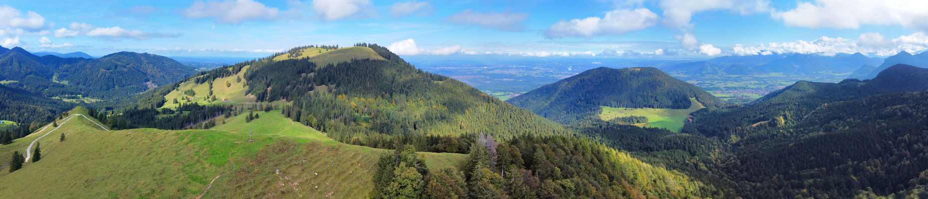 Panorama - Drohnenfotografie - Berge - Alpen - Wanderung - Chiemgau - Mitterberg bei Schuhbräualm