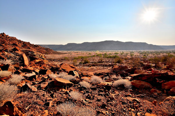 Namibia - Rundfahrt - Reise - Rundreise - Twyfelfontain - Landschaft