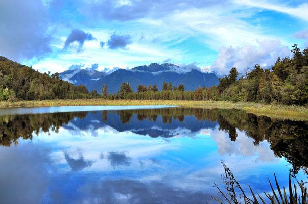 Neuseeland, Südinsel, See, Spiegelung, Lake Matheson