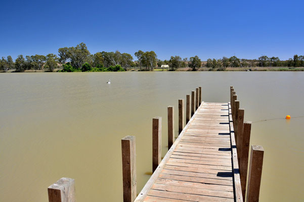 Australien, Australia, Südaustralien, South Australia, Landschaft, Fluss, Steg