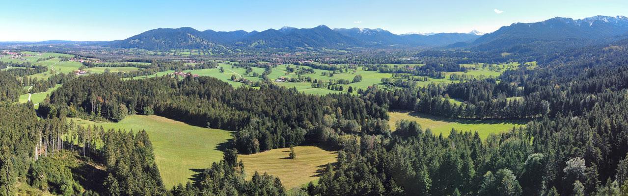 Panorama, Drohnenfoto, Alpen, Grün, Wald, Berge, Zwieselberg