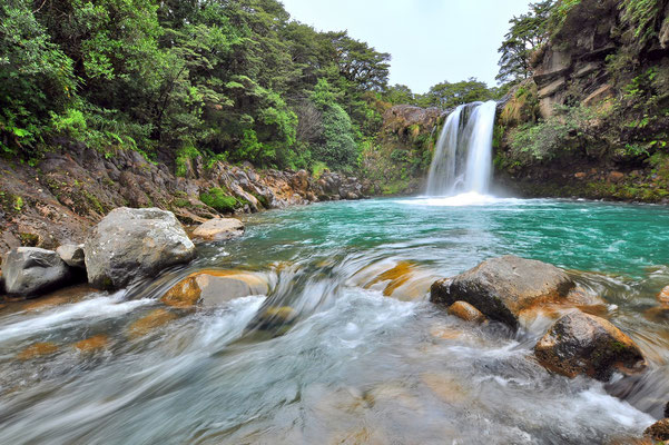 Neuseeland, Nordinsel, Wasserfall, Tawhai Falls
