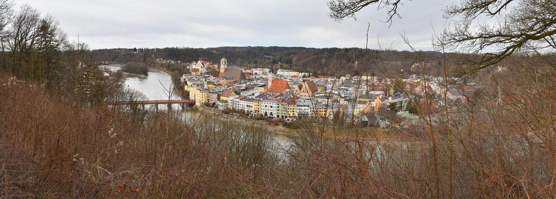 Panorama - Drohnenfotog - Wasserburg am Inn - Innenstadt