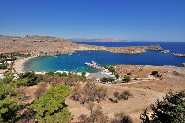 Griechenland, Rhodos, Bucht, Küste, Lindos