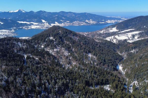 Drohnenfoto - Landschaft - Vogelperspektive - Drohne - Drohnenbild - Luftaufnahme - Riederstein - See - Tegernsee