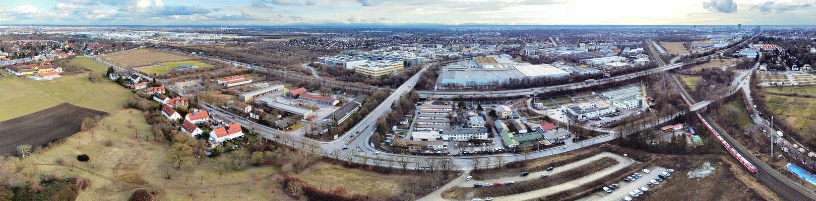 Panorama - Drohnenfoto - München - Riem