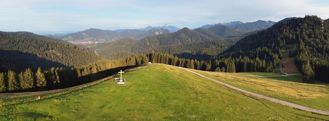 Panorama, Drohnenfoto, Kreuzberg, Alpen, Kreuz, Berge