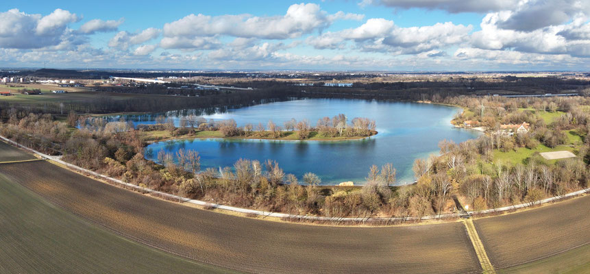 Panorama - Drohnenfoto - Feringasee - Unterföhring