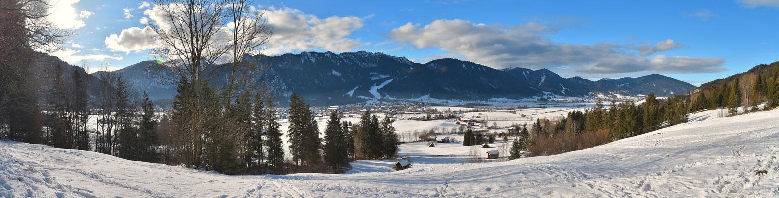 Panorama, Unterammergau, Oberammergau, Winter, Schnee, Wanderung