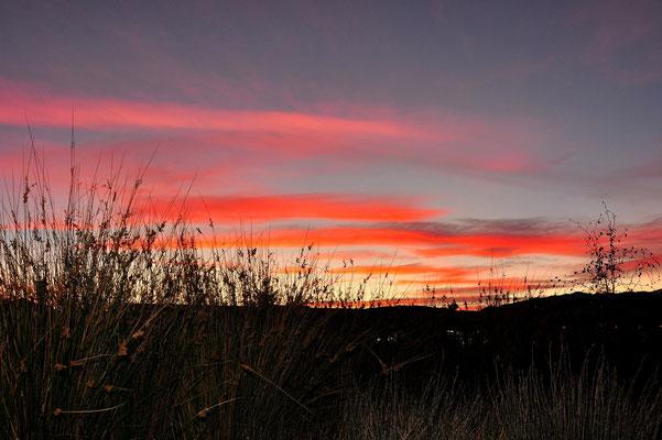Neuseeland, Südinsel, Sonnenuntergang