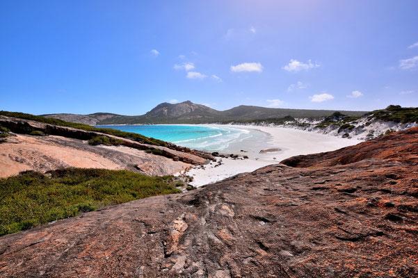 Australien, Australia, Westaustralia, Western Australia, Landschaft, Felsen, Wanderung, Meer, Weisser Sandstrand, Cape Le Grand Nationalpark