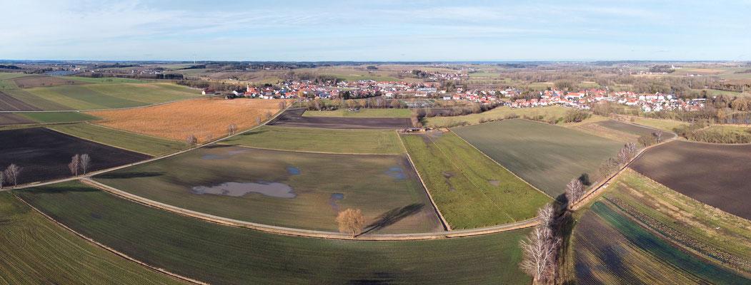 Panorama - Drohnenfoto - Luftaufnahme - Amper - Ampermoching