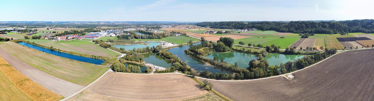 Panorama - Drohnenfoto - Seen - Haselfurth - Bayern