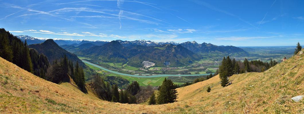 Panorama - Drohnenfoto - Landschaft - Bayern - Berge - Alpen - Sommer - Ausflug - Wanderung - Heuberg