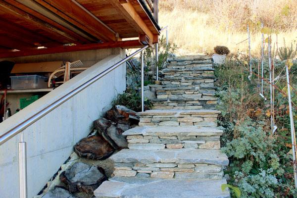 Création d'escalier et pose de barrière